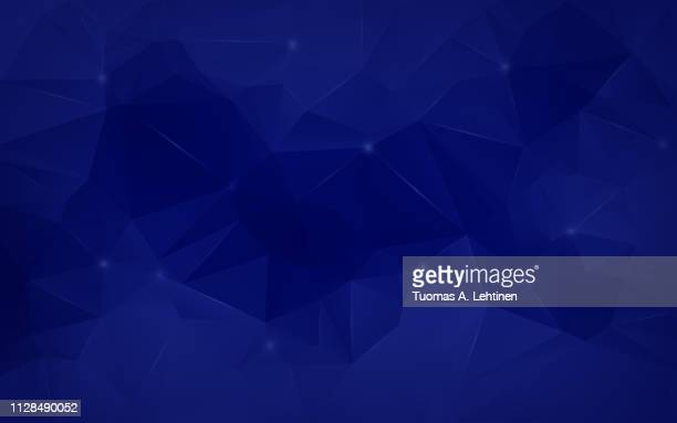 abstract dark blue low poly background - dark blue stock pictures, royalty-free photos & images