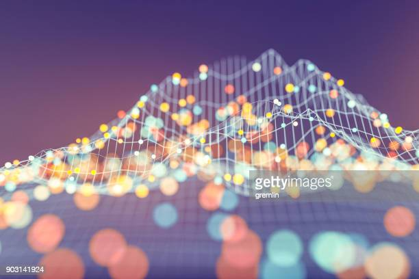 abstract data representation - digitally generated image stock pictures, royalty-free photos & images