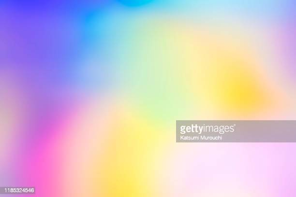 abstract defocus gradient hologram background - rainbow stock pictures, royalty-free photos & images