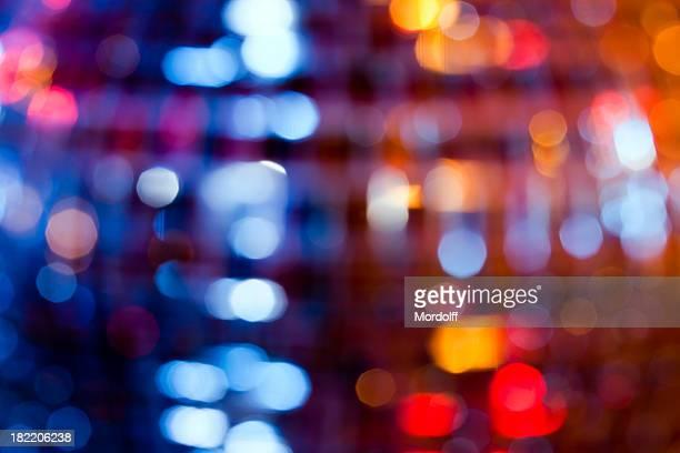 Arrière-plan flou lumières de disko Sphère