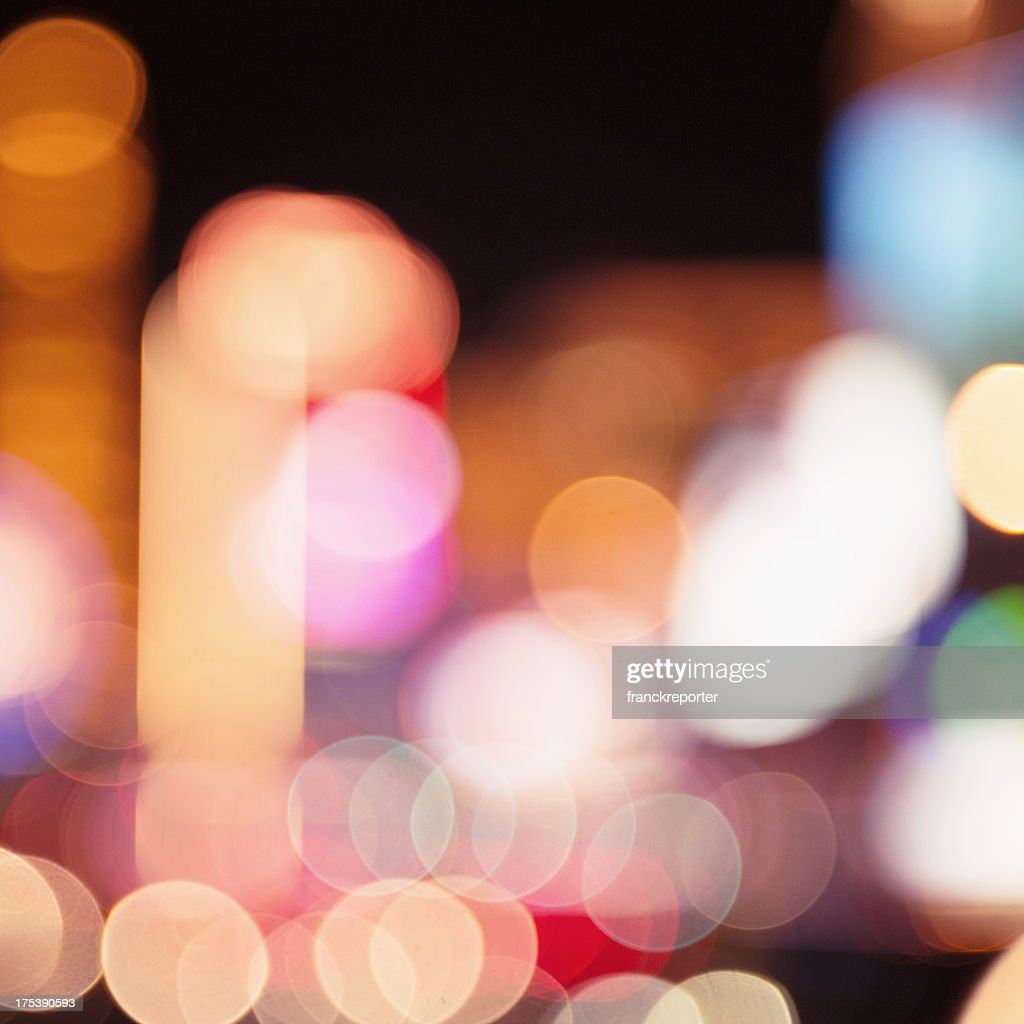 Abstract defocuss light on Las Vegas : Stock Photo