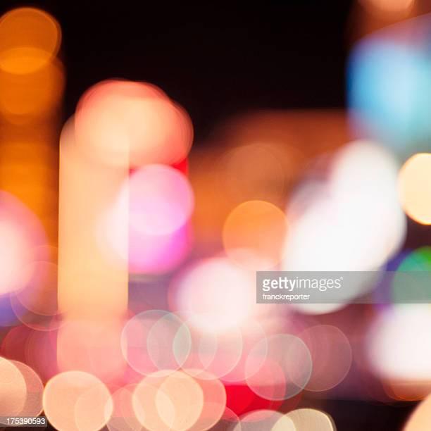 Abstract defocuss light on Las Vegas