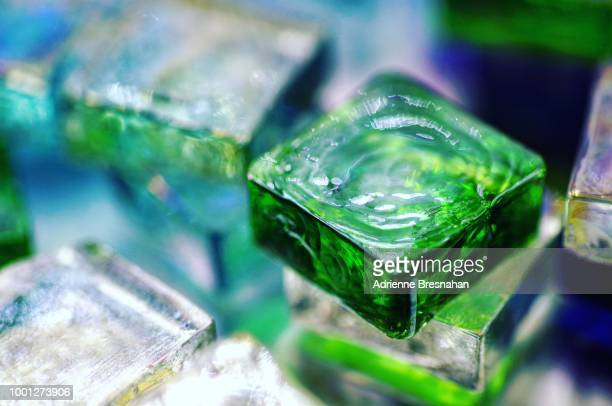 Abstract Design of Glass Squares, Close-up