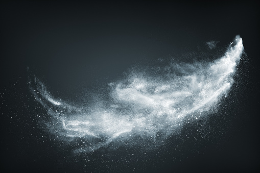 Abstract design of white powder snow cloud 862273532