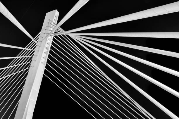 Abstract Detail of a Suspension Bridge