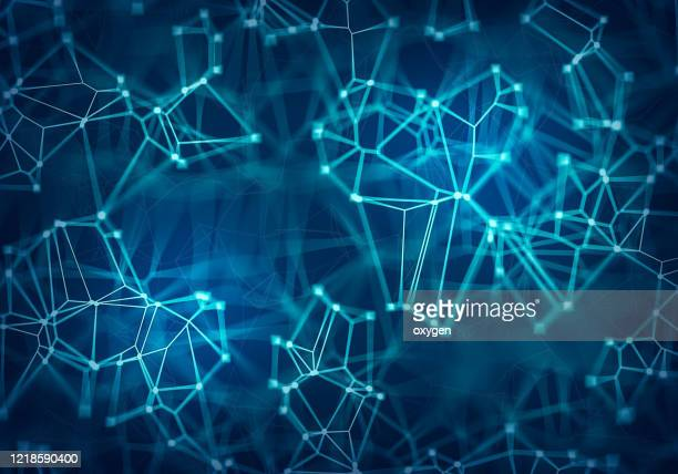 abstract digital formation futuristic background composition, cybernetic particles - chemical formula stock pictures, royalty-free photos & images