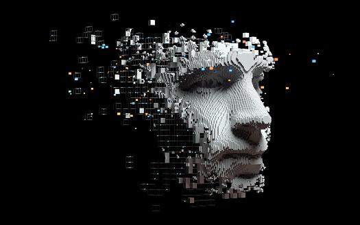 Abstract digital human face 1173158404