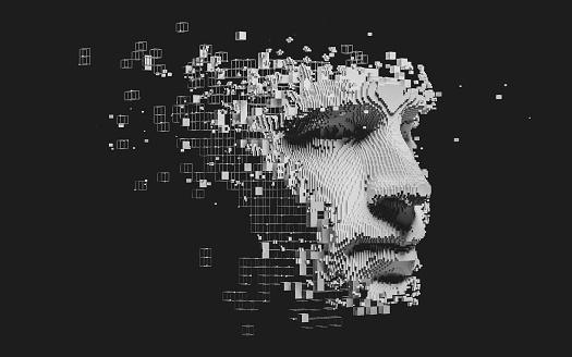 Abstract digital human face 1173458620