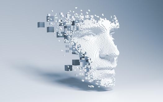 Abstract digital human face 1173458627