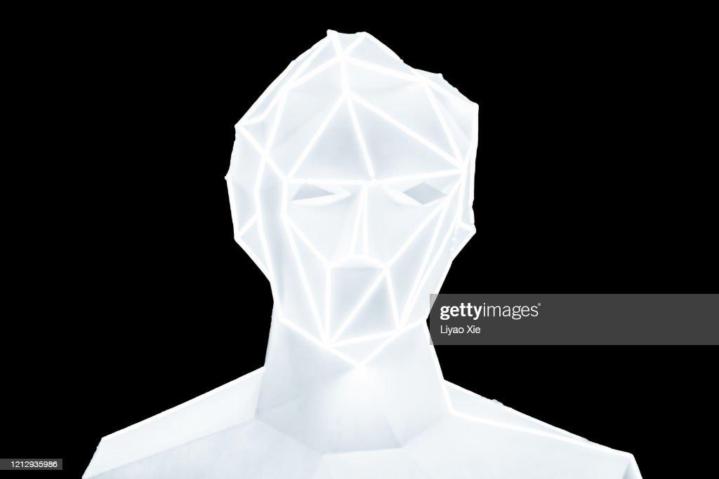 Abstract digital human : Stock Photo