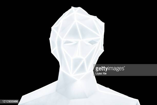 abstract digital human - liyao xie stock pictures, royalty-free photos & images
