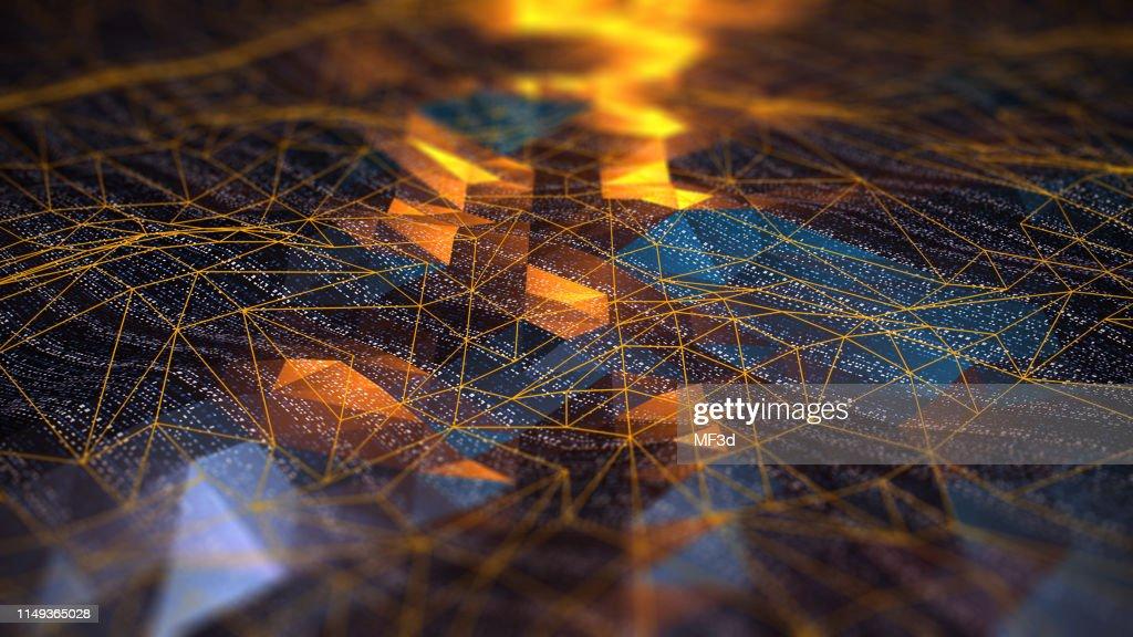 La comunicación de red digital abstracta : Foto de stock