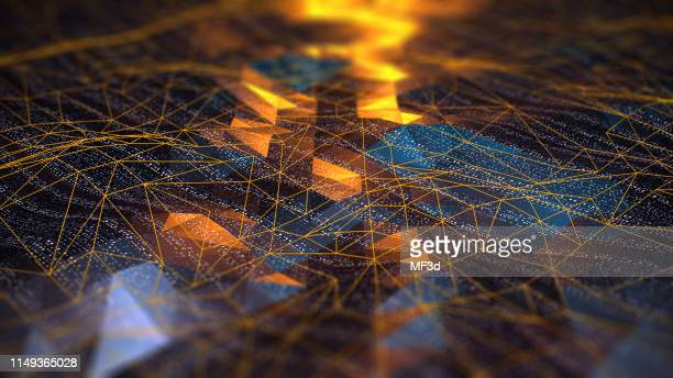 abstract digital network communication - abstract foto e immagini stock