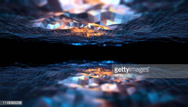 abstract digital network communication - big data world stock pictures, royalty-free photos & images