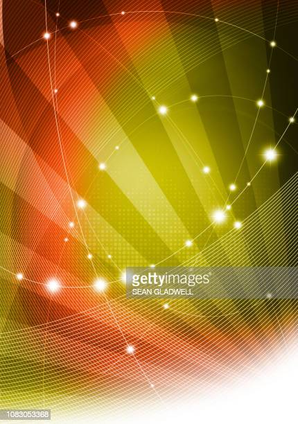 abstract digital network - website template stock photos and pictures