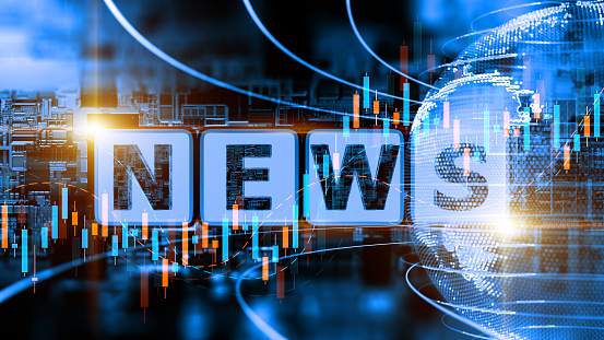 Abstract Digital News Concept 1192070239