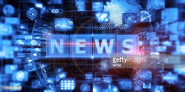 abstraktes digitales news-konzept - nachrichtenereignis stock-fotos und bilder
