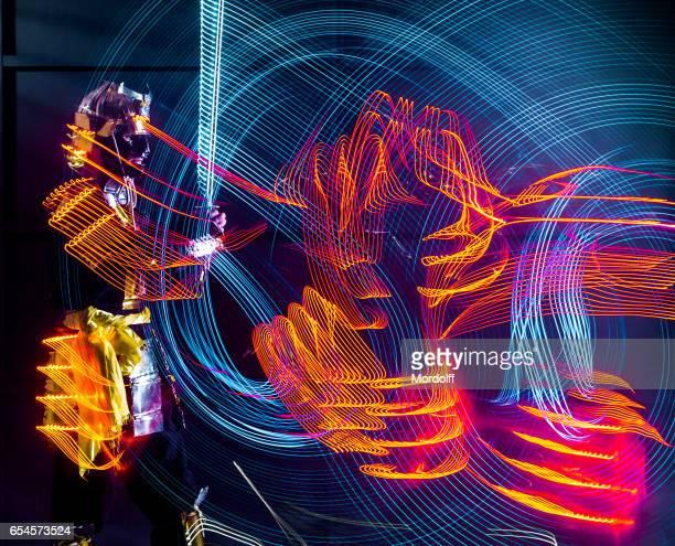 Abstract Drawing LED Glow Katana