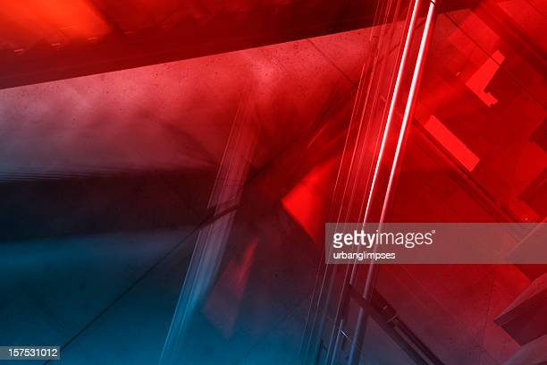 abstract dynamic architecture - rood stockfoto's en -beelden