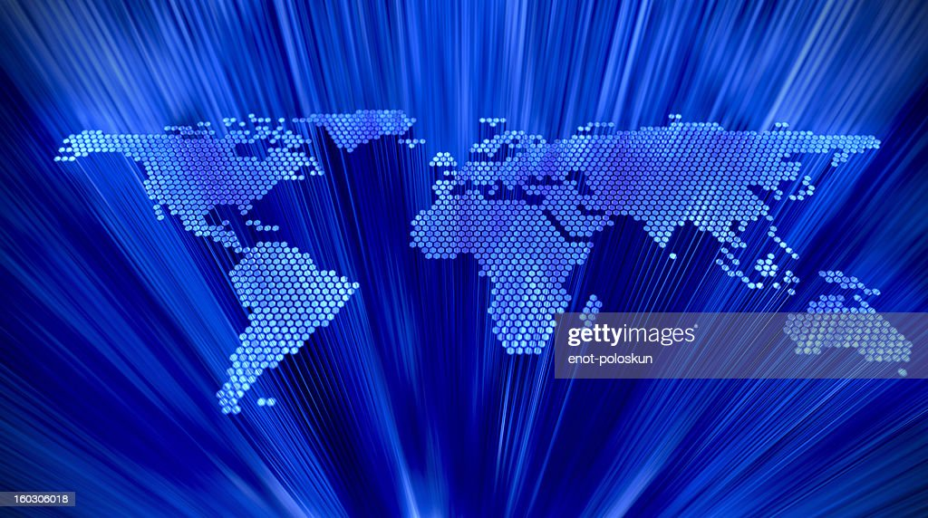 abstract earth map : Stock Photo
