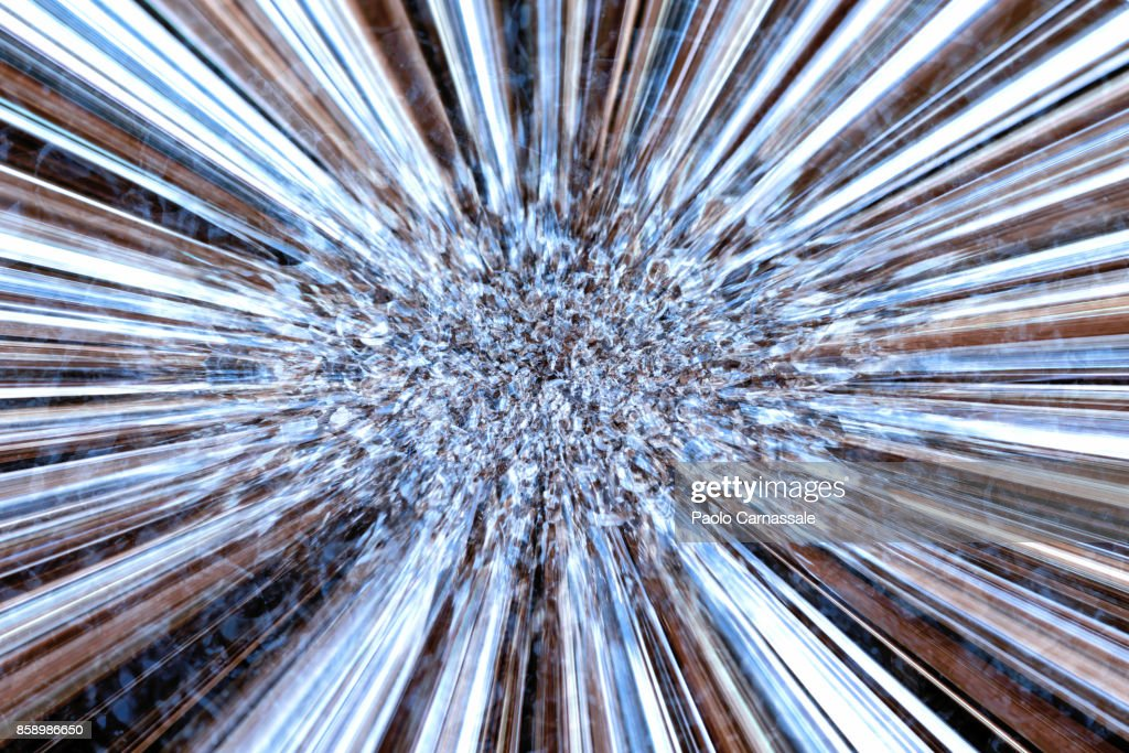 Abstract explosion of metal particles : Stock Photo