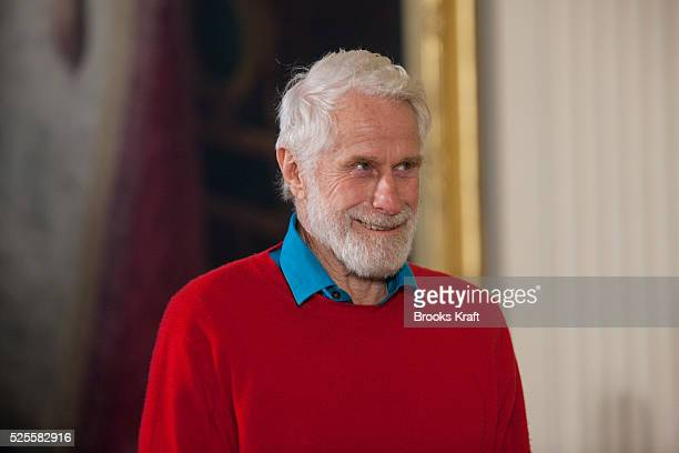 Abstract expressionist sculptor Mark di Suvero waits before U.S. President Barack Obama presented him with a 2010 National Medal of Arts during a...