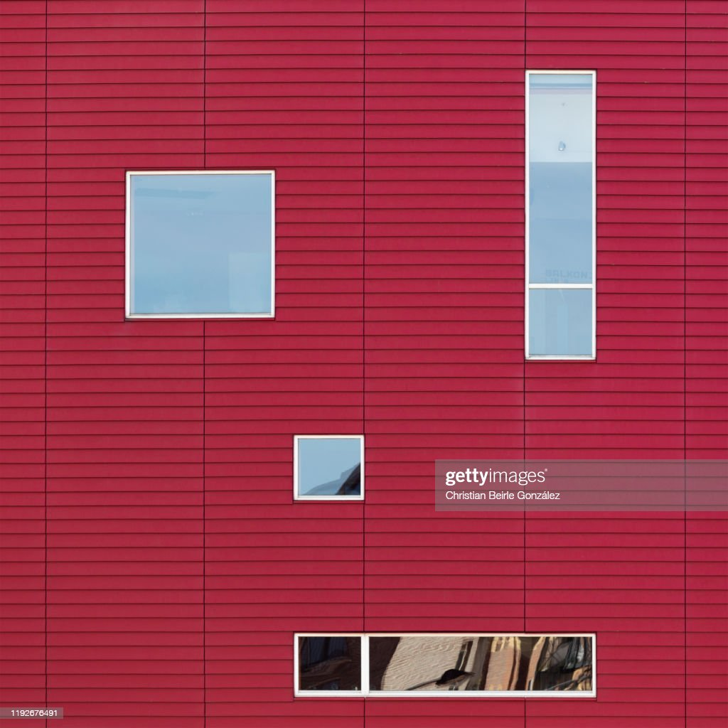 Abstract exterior from street, Nieuwe Luxor Theater, Rotterdam. : Stock-Foto