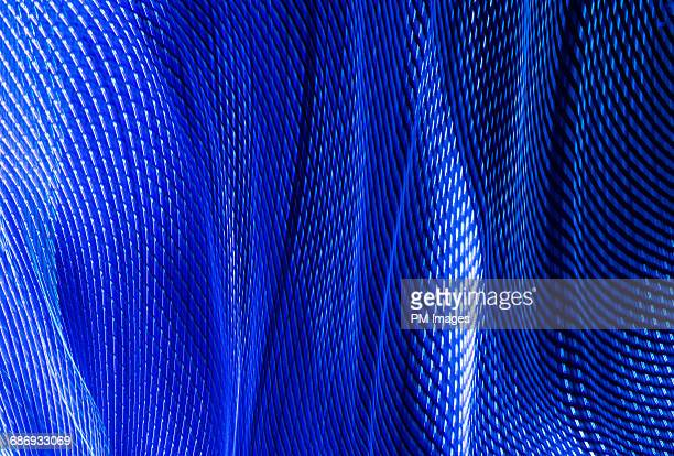 Abstract fabric of blue light