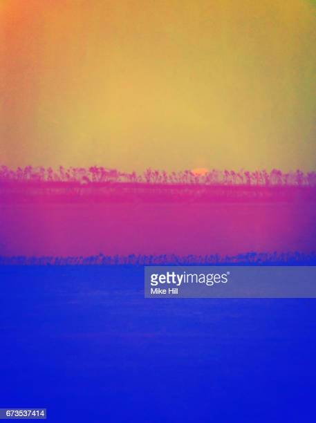 abstract false colour image of condensation on a window pane - hot pink stock photos and pictures
