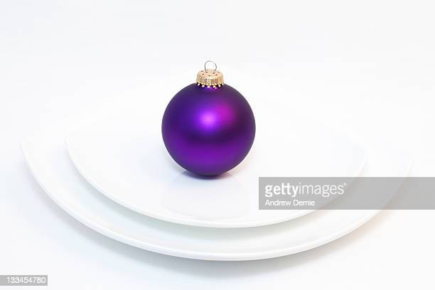 Abstract festive place setting