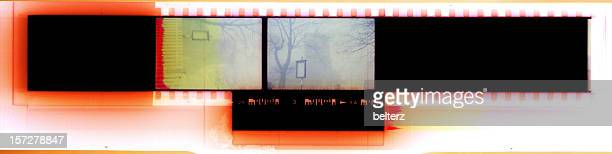 abstract film banner - camera film stock photos and pictures