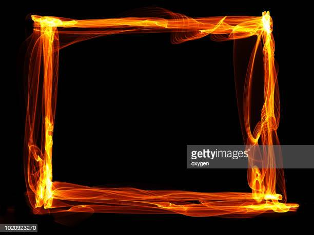 Abstract Fire frame on black