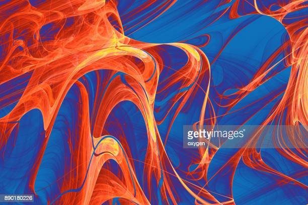 Abstract Fire glowing Wave background