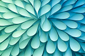 Abstract Flexible Paper Radial Pattern