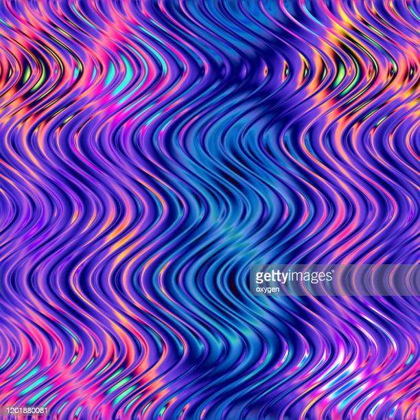 abstract fluid wavy seamless pattern background. ultra violet neon colored background - saturated color stock pictures, royalty-free photos & images