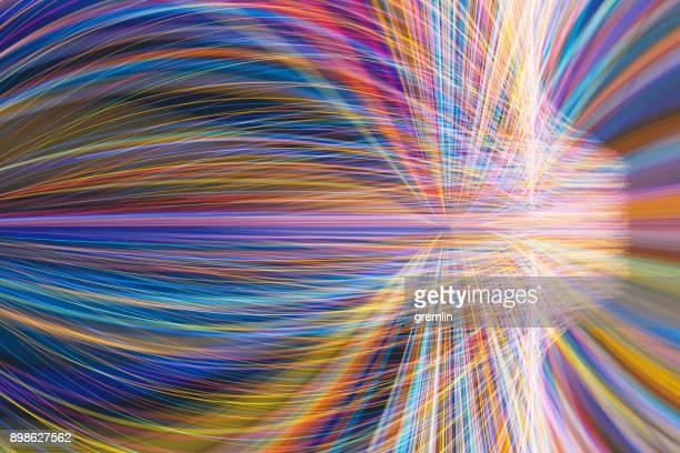 流れるようなラインの抽象的な形