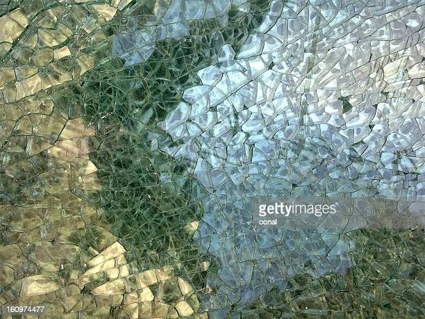 Abstract fractured glass mosaic