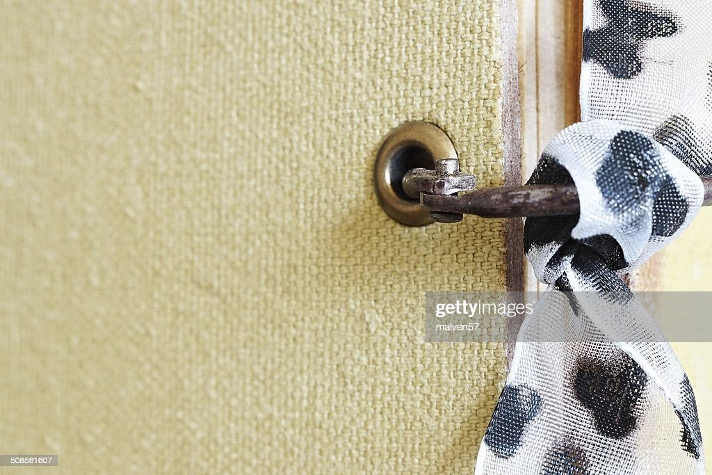 abstract fragment of notebook with a bow : Stock Photo