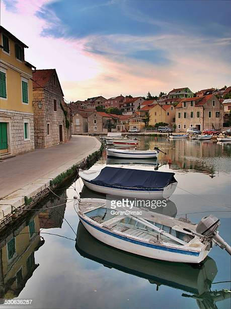 abstract from vrboska - hvar stock photos and pictures