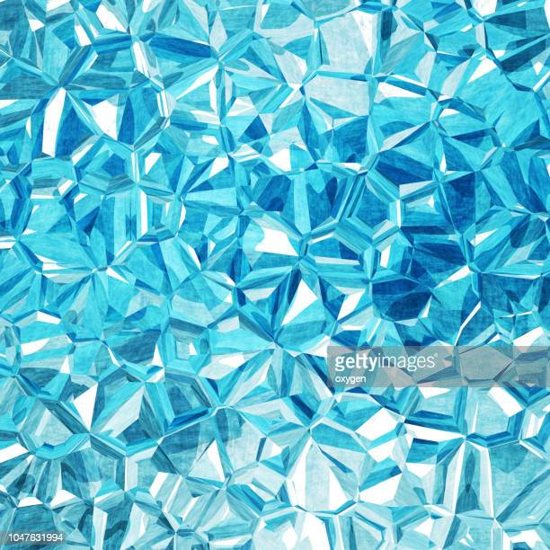abstract geometric blue polygon background - diamond gemstone stock pictures, royalty-free photos & images