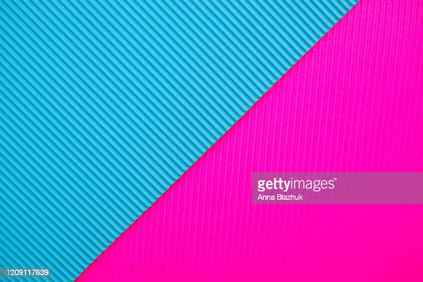 abstract geometric color paper background in neon colors - tilt stock pictures, royalty-free photos & images