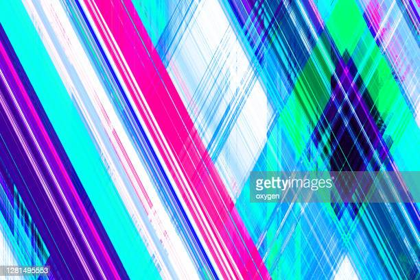 abstract geometric crossed lines diagonal magenta blue modern background - in a row stock pictures, royalty-free photos & images