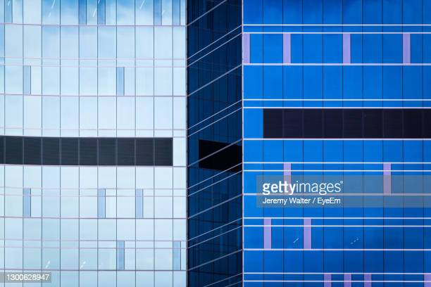 abstract geometric details of reflections in modern building - eyeem jeremy walter stock pictures, royalty-free photos & images