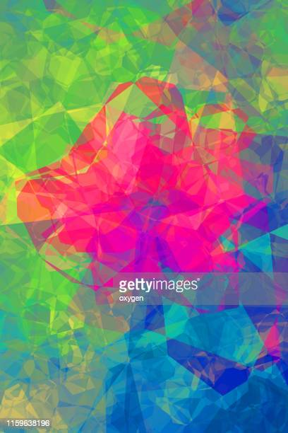 abstract geometric flower illustration - triangle percussion instrument stock photos and pictures