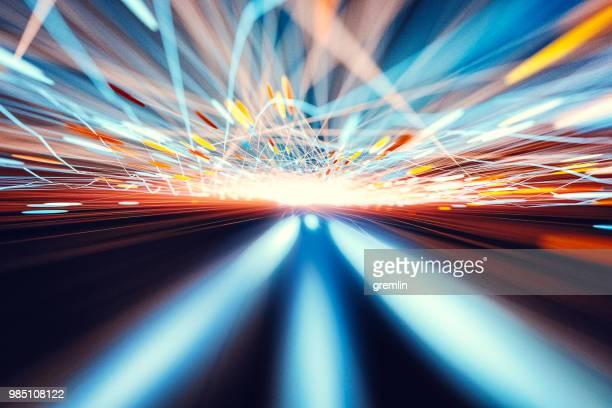 abstract geometric landscape motion blur - modalità wire frame foto e immagini stock