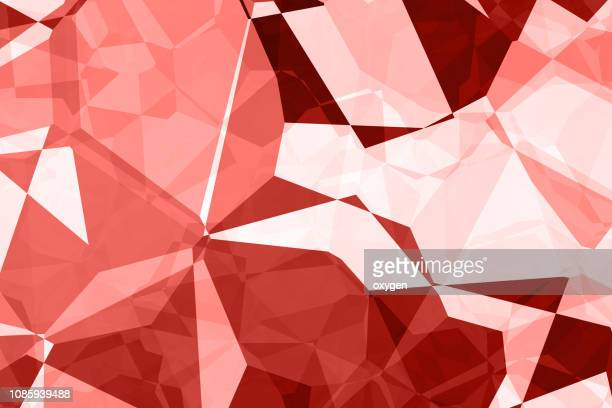 abstract geometric living coral color polygon background - triangle percussion instrument stock photos and pictures