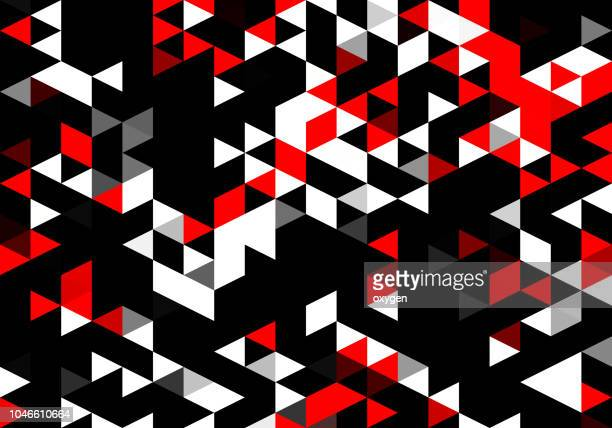 abstract geometric polygon background - triangle percussion instrument stock photos and pictures