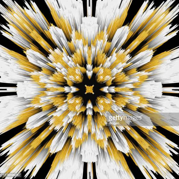 abstract geometric radial black yellow speed lines background - pops of bright color stock pictures, royalty-free photos & images