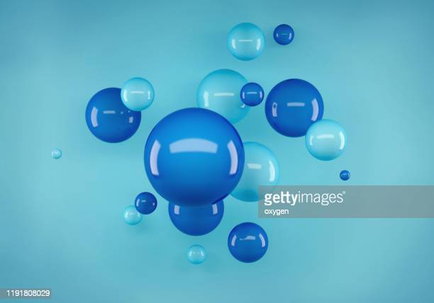 abstract geometric realistic spheres shape scene. 3d rendering - three dimensional stock pictures, royalty-free photos & images