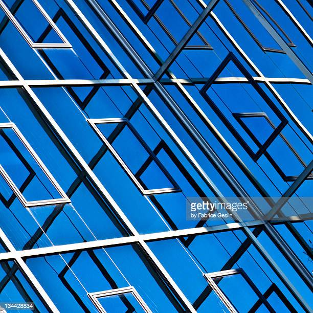 Abstract geometric reflection